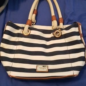 Used Michael Kors nautical striped hangbag